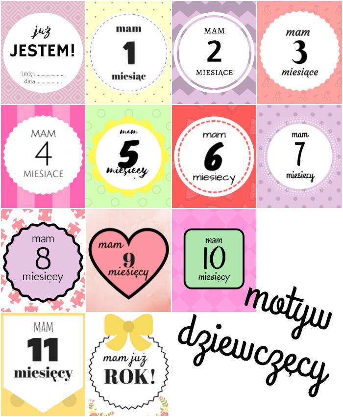 karty do zdjęć dla dziewczynki