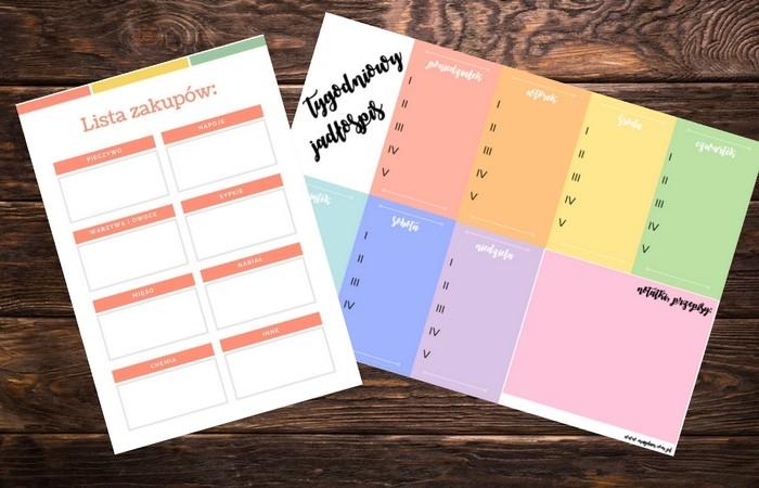 Tygodniowy planner posiłków blog